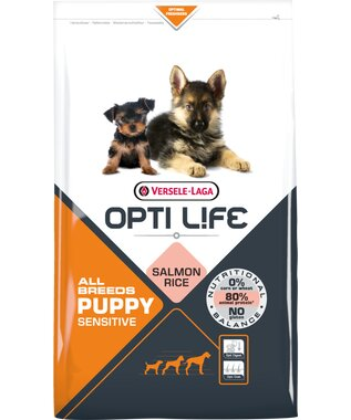 Opti Life - Puppy Sensitive All Breeds - Lachs+Reis - 2,5kg